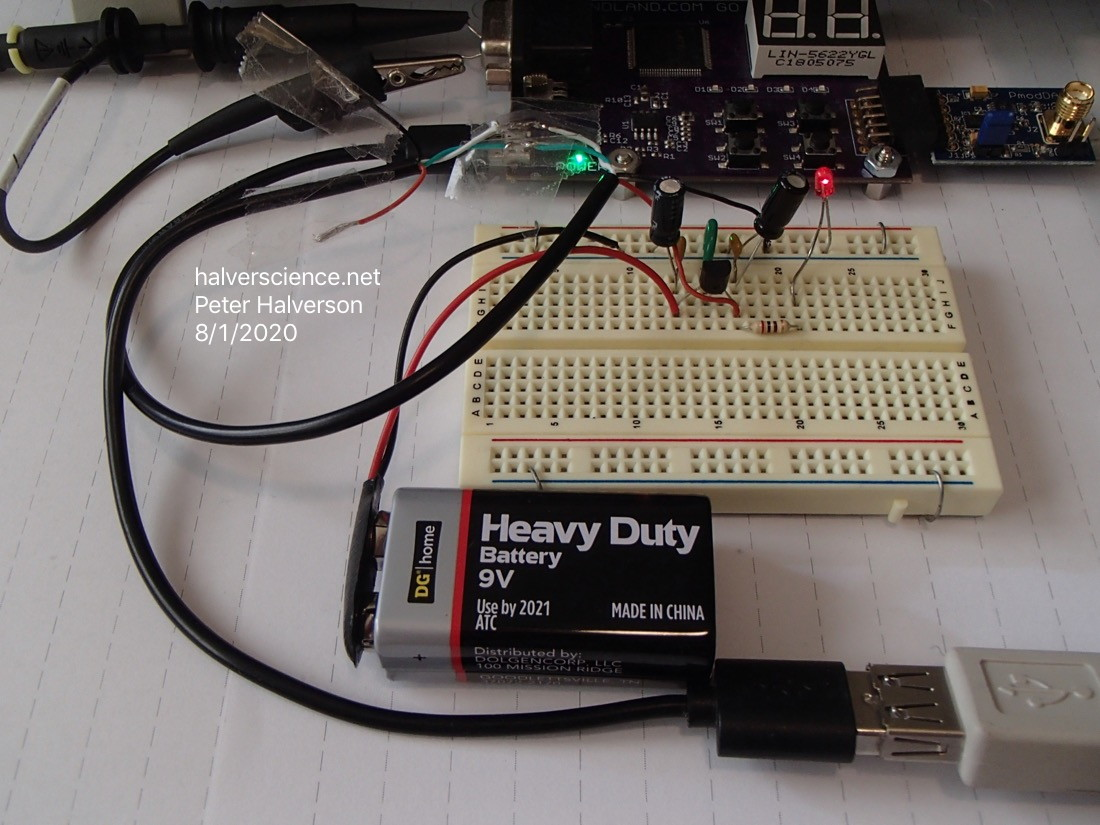 <strong>Low-noise power source for USB devices on breadboard.</strong>